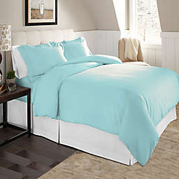 Pointehaven Solid 2-Piece Twin/Twin XL Flannel Duvet Cover Set in Aqua