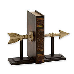 Ridge Road Décor Arrow 2-Piece Iron Bookend Set in Gold