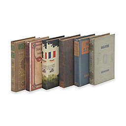 Ridge Road Décor 6-Piece Fabric Covered Book Box Set