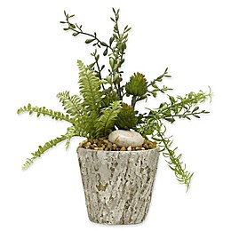 D&W Silks Cycas Palm Fronds in Glass Vase