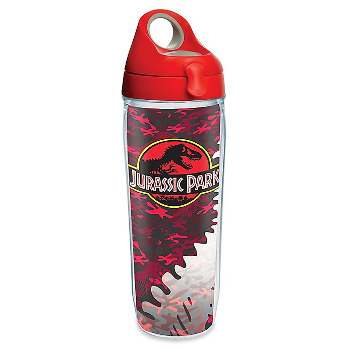 Alternate image 1 for Tervis® Jurassic Park Red Camo 24 oz. Wrap Water Bottle with Lid