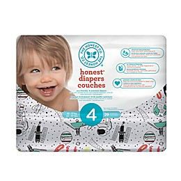 Honest 29-Pack Size 4 Diapers in Space Traveling Pattern