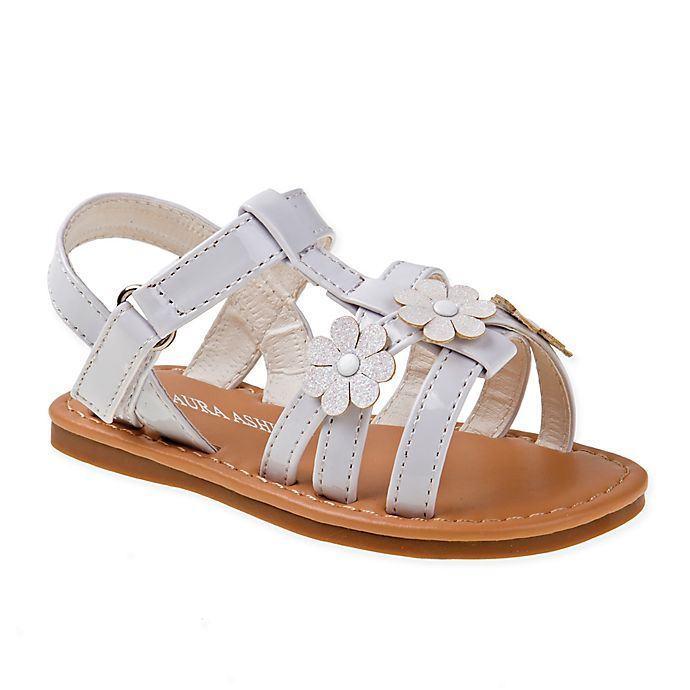 dc8757131 Laura Ashley® Size 3-6M Flower Sandal in White