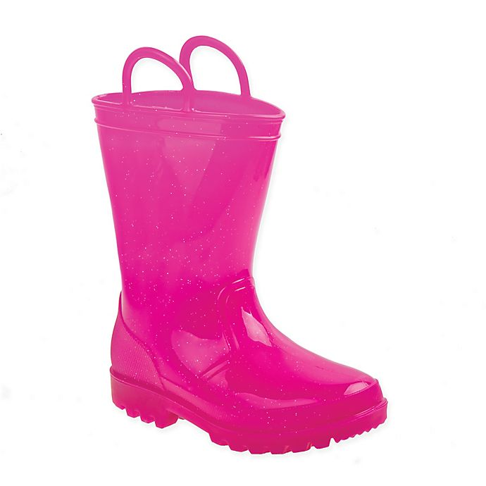 Alternate image 1 for Laura Ashley® Size 8-9 Rubber Rainboots in Pink