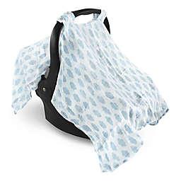 Hudson Baby® Muslin Clouds Car Seat Canopy in Light Blue