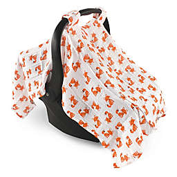 Hudson Baby® Muslin Foxes Car Seat Canopy in Orange