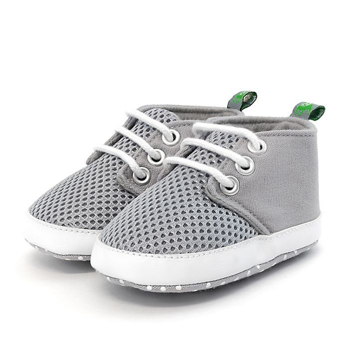 Alternate image 1 for Stepping Stones Size 0-3M Mesh Sneaker in Grey