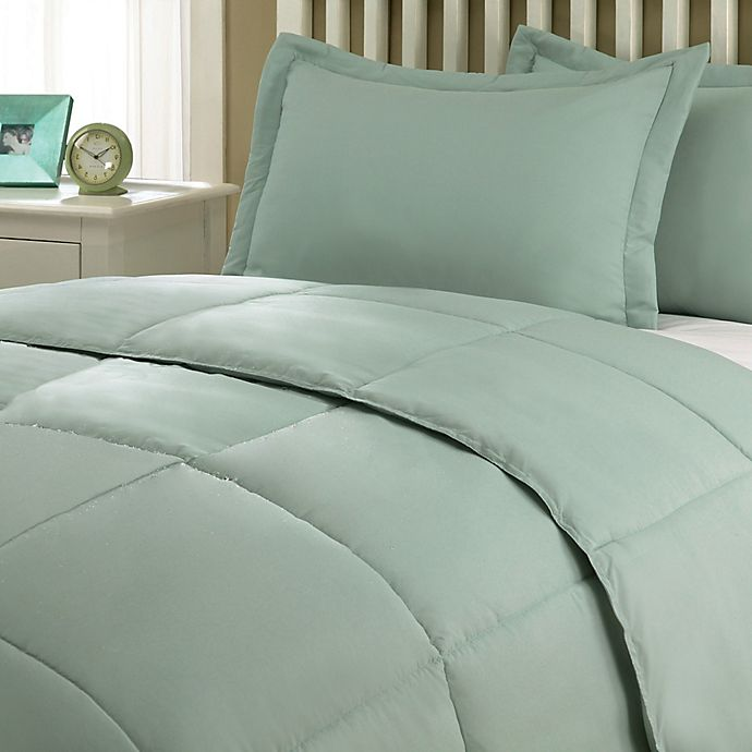 Alternate image 1 for Clean Living Stain/Water Resistant 2-Piece Twin/Twin XL Comforter Set