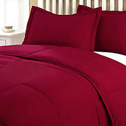 Clean Living Stain/Water Resistant 2-Piece Twin Comforter Set in Red