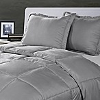Clean Living Stain/Water Resistant 3-Piece Full/Queen Comforter Set in Silver