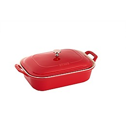 Staub 4 qt. Rectangular Covered Baking Dish in Cherry