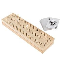 Hey! Play! Wood Cribbage Game Set