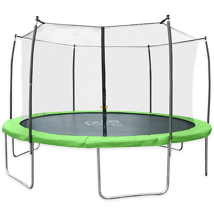 Alternate image 1 for Pure Fun® Dura-Bounce 15-Feet Trampoline with Enclosure in Green