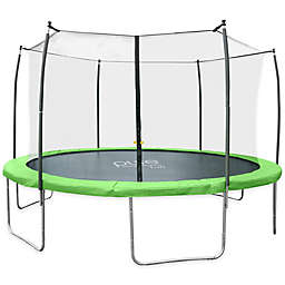 Pure Fun® Dura-Bounce 15-Feet Trampoline with Enclosure in Green