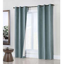 Weathermate Grommet Top Window Curtain Panel Pair