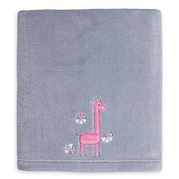 Little Love by NoJo® Giraffe Time Fleece Blanket in Grey/Pink