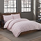 Garment Washed Cotton Dot Printed Full/Queen Duvet Cover Set in Blush