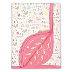 Gerber® Organic Cotton Knit Hello Bunny Reversible Blanket in Coral/Ivory