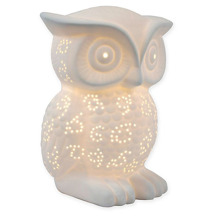 Simple Designs Porcelain Wise Owl Table, Owl Table Lamp