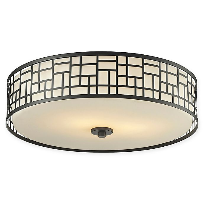Alternate image 1 for Filament Design Lea 3-Light Transitional Mounted Ceiling Light in Bronze