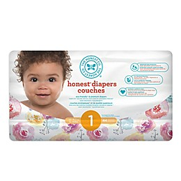 Honest 44-Count Size 1 Diapers in Rose Blossom Pattern
