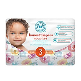 Honest 34-Count Size 3 Diapers in Rose Blossom Pattern