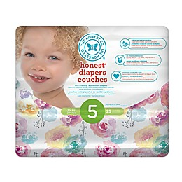Honest 25-Count Size 5 Diapers in Rose Blossom Pattern