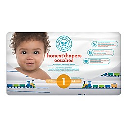 Honest 44-Count Size1 Diapers in Trains Pattern