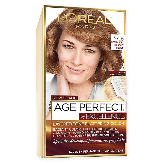 Alternate image 1 for L'Oréal Paris Excellence Age Perfect Hair Color in Medium Soft Chestnut Brown