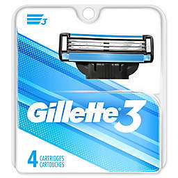 Gillette3® 4-Count Men's Razor Blade Refills