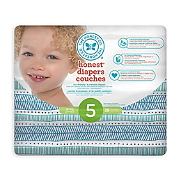 Honest 25-Count Size 5 Diapers in Tribal Pattern