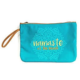 "Morgan Home ""Namaste at the Beach"" Water-Resistant Canvas Swimsuit Sack"