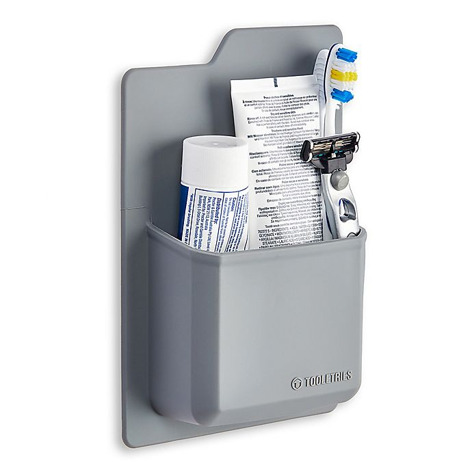 Alternate image 1 for Tooletries Silicone Toiletry Organizer in Grey