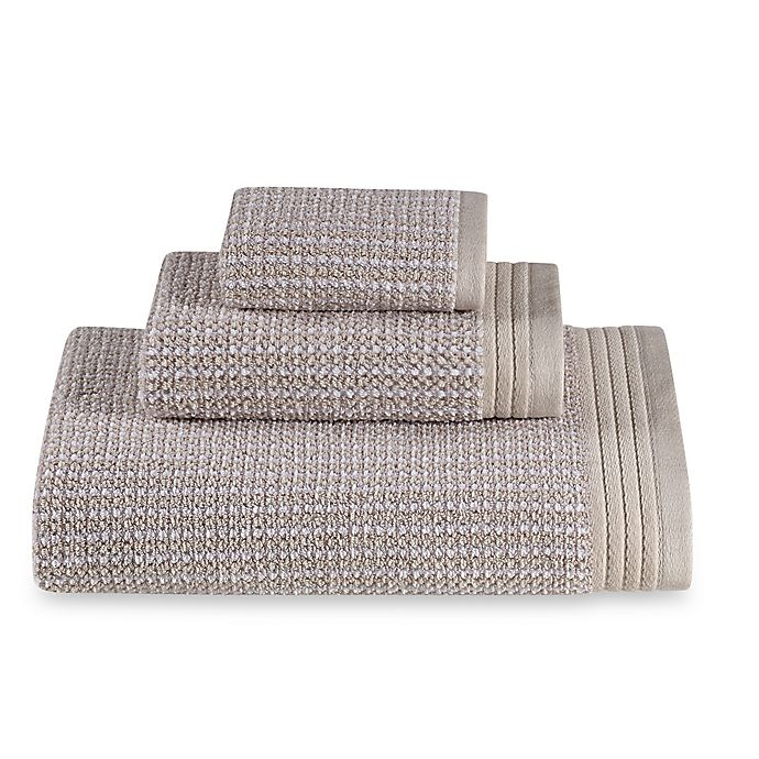 Alternate image 1 for The Royal Company Fashion Value Roma Ombre Fingertip Towel in Sand