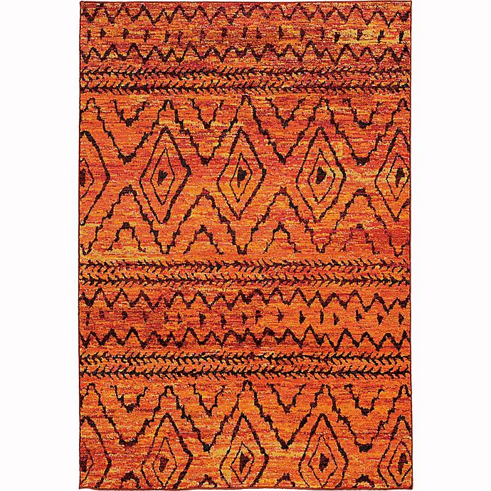 Alternate image 1 for Oriental Weavers Nomad Tribal Abstract 7'10 x 10'10 Area Rug in Orange