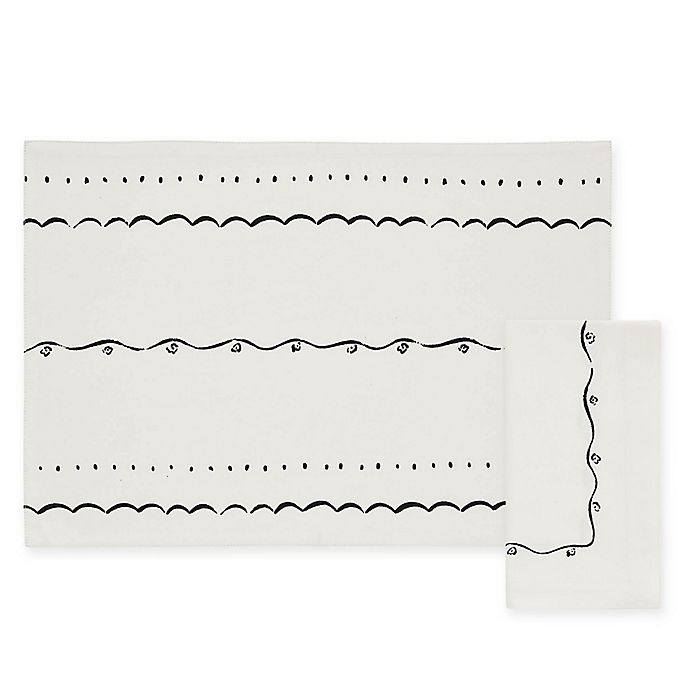 Alternate image 1 for kate spade new york Union Square Doodle Placemat and Napkin