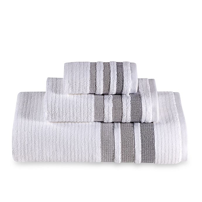 Alternate image 1 for The Royal Company Fashion Value Crinkle Cord Bath Towel in Grey