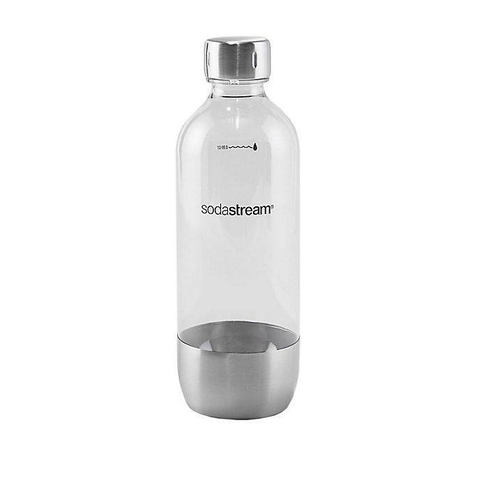 Alternate image 1 for SodaStream® Classic 1-Liter Carbonating Bottle in Stainless Steel