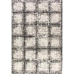 Dynamic Rugs Mehari Urban Glass Rug in Black/White