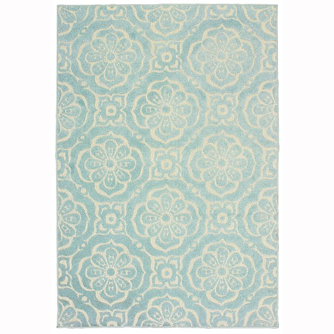 Alternate image 1 for Oriental Weavers Barbados 3'3 x 5' Indoor/Outdoor Area Rug in Blue