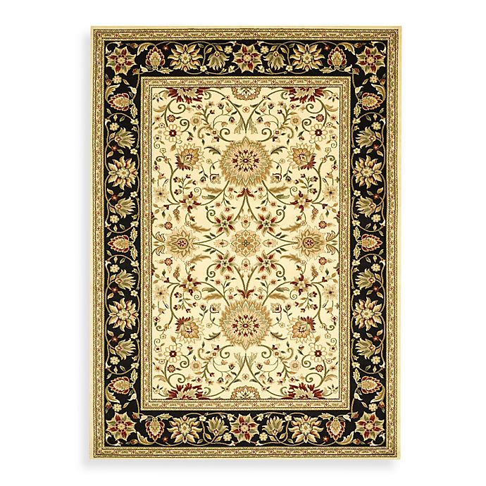 Alternate image 1 for Safavieh Lyndhurst 6-Foot x 9-Foot Traditional Rug in Ivory and Black