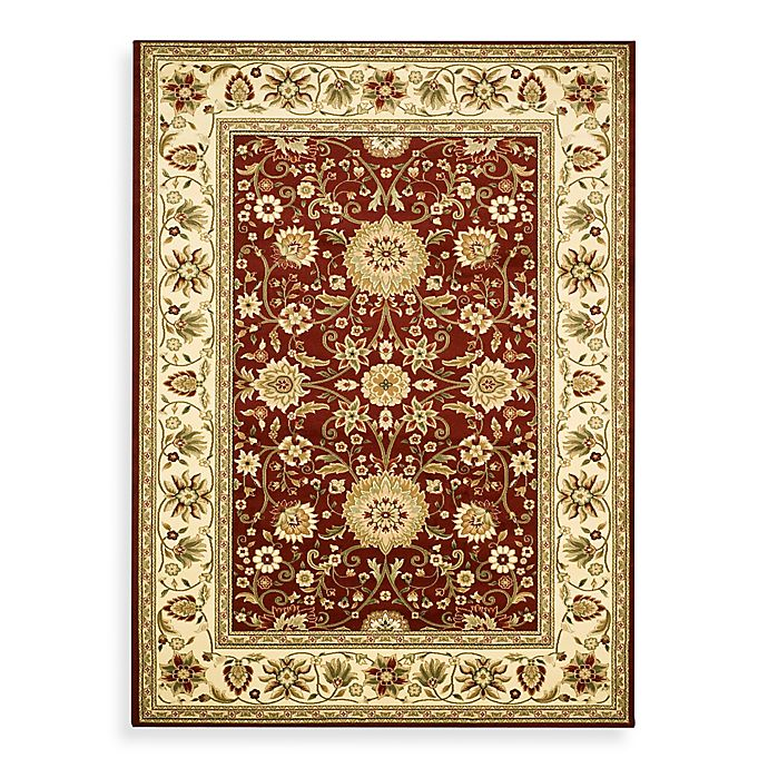 Alternate image 1 for Safavieh Lyndhurst Collection 6-Foot x 9-Foot Rug in Red and Ivory