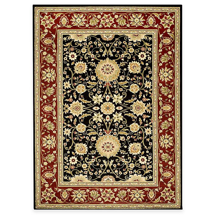Alternate image 1 for Safavieh Lyndhurst Collection 6-Foot x 9-Foot Rug in Black and Red