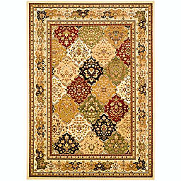 Safavieh Lyndhurst Diamond Patchwork 2-Foot x 12-Foot Runner in Ivory/Multi
