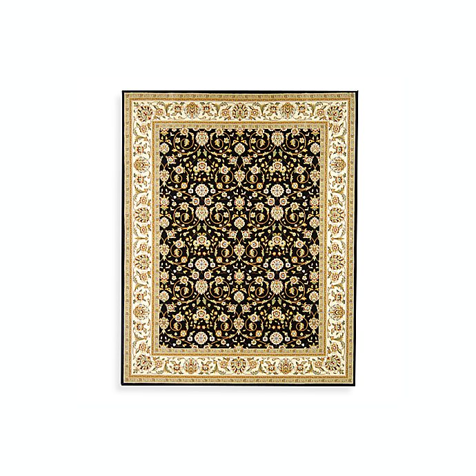 Alternate image 1 for Safavieh Lyndhurst Black Scroll Pattern 4' x 6' Rectangle Rug