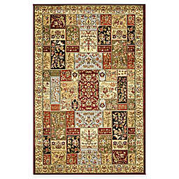 Safavieh Lyndhurst Floral Patchwork 2-Foot 3-Inch x 12-Foot Runner in Tan