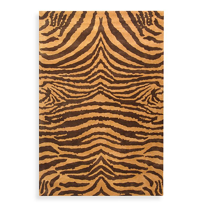 Alternate image 1 for Safavieh Soho Wool Rugs in Brown/Gold