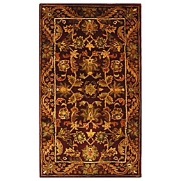 Safavieh Antiquities Wool Accent Rug in Wine
