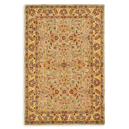 Safavieh Classic 2' x 14' Handcrafted Runner in Light Gren/Gold