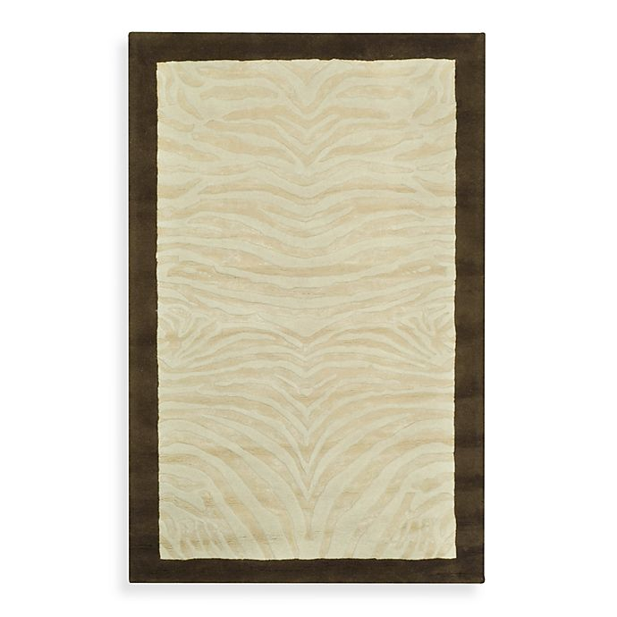 Alternate image 1 for Safavieh 2-Foot 6-Inch x 8-Foot Wool Runner in Ivory and Espresso